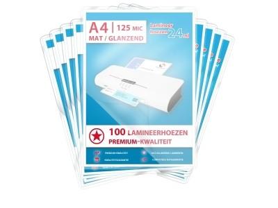 Megapakket 2000 hoezeen - A4, 2 x 125 mic mat / glanzend