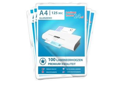 Megapakket 500 lamineerhoezen - A4, 2 x 125 Mic, glanzend