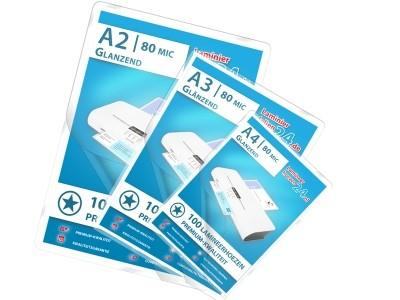 Mix-Pakket - A2, A3, A4 - 80 Mic, glanzend