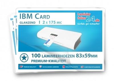 Lamineerhoezen IBM Card (59 x 83 mm), 2 x 175 mic
