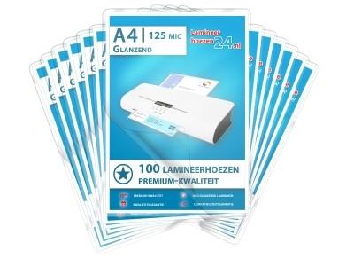 Megapakket 5000 lamineerhoezen - A4, 2 x 125 mic, glanzend