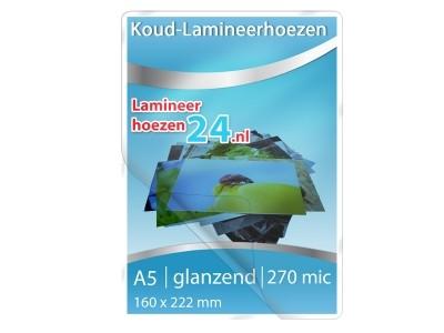 Koud-Lamineerhoezen A5, 300 Mic, glanzend