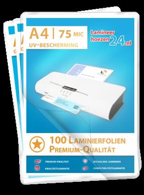zelfklevende Lamineerhoezen met UV-bescherming A6, 2 x 75 Mic, glanzend