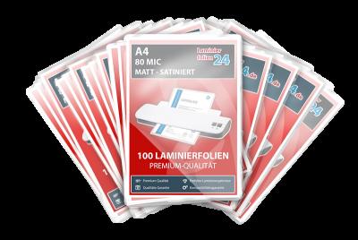 Megapakket 5000 lamineerhoezen - A4, 2 x 80 Mic, mat