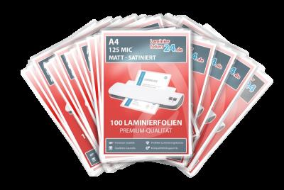 Megapakket 5000 Folien - A4, 2 x 125 Mic, mat