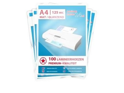 Megapakket 500 hoezen - A4, 2 x 125 mic mat / glanzend