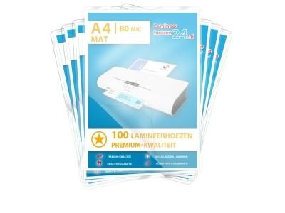 Megapakket 1000 lamineerhoezen - A4, 2 x 80 mic, mat