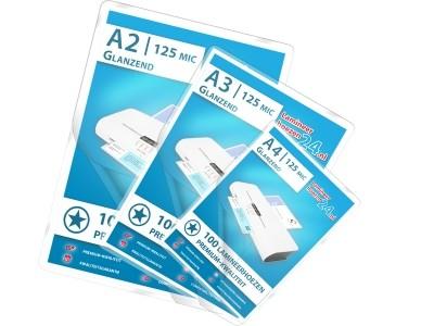 Mix-Pakket - A2, A3, A4 - 125 Mic, glanzend