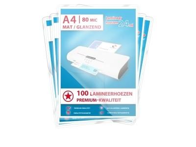 Megapakket 500 hoezen - A4, 2 x 80 mic, mat / glanzend