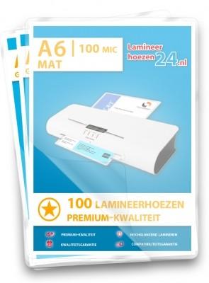 Lamineerhoezen A6, 2 x 125 Mic, mat